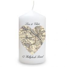 1896 - 1904 Revised New Heart Map Candle